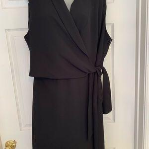 Dress plus size 18w black sleeveless cocktail NWOT